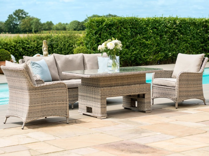 Cotswolds 3 Seat Sofa Dining Set with Rising Table Image0 Image