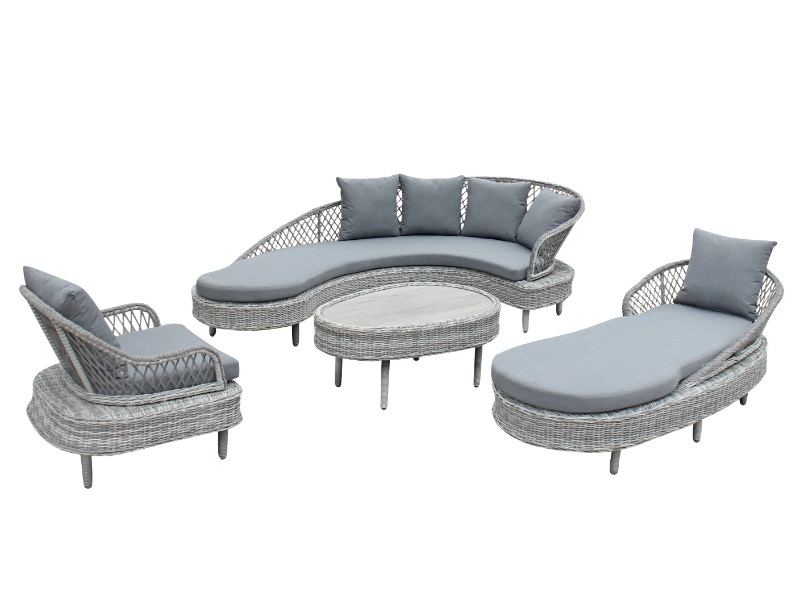 Signature Weave Serenity Luxury Sofa Collection with Textilene Rope Weave Outdoor and Garden Image0 Image